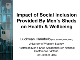 1140 L Hlambelo - Australian Men`s Sheds Association