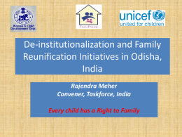 Deinstitutionalization and Family Reunification Project for Children