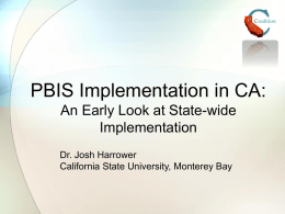 PBIS Symposium-CA Data - Santa Clara County Office of Education