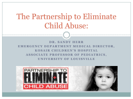 The Partnership to Eliminate Child Abuse: