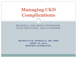 Managing Complications of CKD