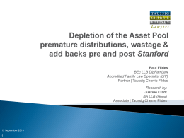 Depletion of the Asset Pool (Powerpoint)
