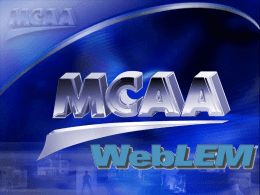 WebLEM-2014-Update - Mechanical Contractors Association of