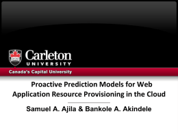 Proactive Prediction Models for Web Application - ISKO