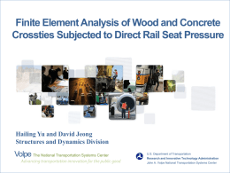 Finite Element Analysis of Wood and Concrete Crossties