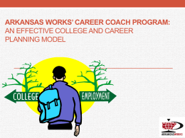 College and CAREER COACH PROGRAM: Effectively assisting