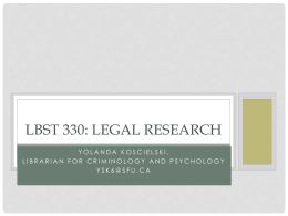LBST 330: Legal Research
