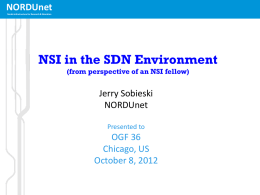 NSI in the SDN Environment
