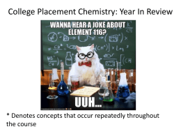 CP Chemistry Year Review