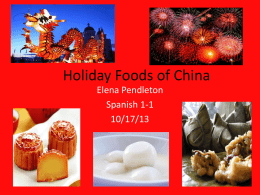 Holiday Foods of China