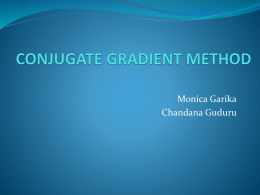 conjugate gradient method - Department of Computer Science