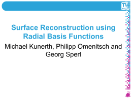 Surface Reconstruction using Radial Basis Functions