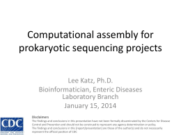 Lee Katz - Compgenomics2014