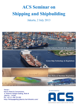 ACS Conference on Shipping and Shipbuilding