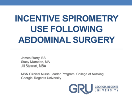 Incentive Spirometry Use Following Abdominal Surgery
