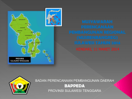 PPT - BAPPEDA SULTRA