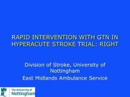 Training: Paramedic (pptx file) - Rapid Intervention with Glyceryl