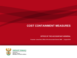 Cost Containment 21 Aug 2014 - Office of the Accountant
