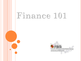 Finance 101 - Finance, Banking and Investment Society