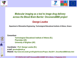 Loudos George Molecular imaging as a tool to image drug delivery