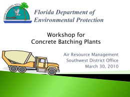 Concrete Batch Plant - Florida Department of Environmental Protection