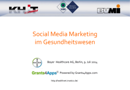 1. AG Treffen eHealth Netzwerk Business Applications for the mobile
