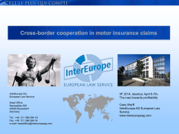 Cross-border cooperation in motor claims management Vendor