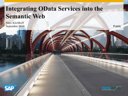 Integrating OData Services into the Semantic Web