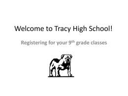 Registering for 9th grade courses