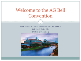 Welcome to the AG Bell Convention