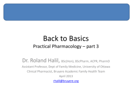 Basics Pharmacology Review Part 3