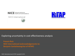 Exploring Uncertainty in Cost effectiveness