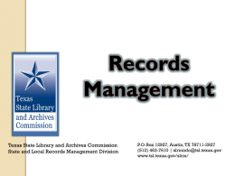 4.015 Records Management - Texas Association of Counties