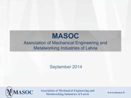 Mechanical Engineering and Metalworking Industry in Latvia