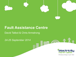 Fault Assistance Centre presentation