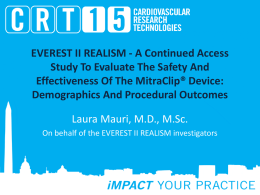 EVEREST II REALISM - A Continued Access Study To