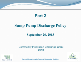 Sump Pump Policy - Central MA Regional Stormwater Coalition