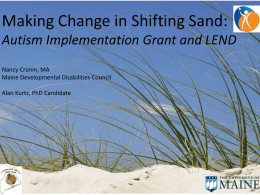 Making Change in Shifting Sand - Association of Maternal & Child