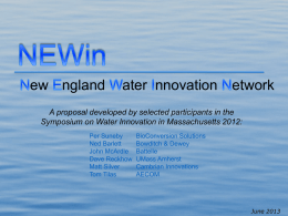 New England Water Innovation Network (NEWin) - Swim-MA