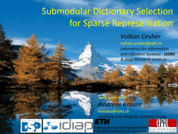 Submodular Dictionary Selection for Sparse - lions