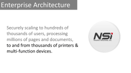 NSi Enterprise Architecture