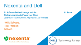 Nexenta DW2014 - Dell PartnerDirect