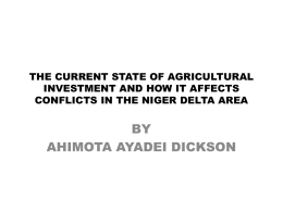 The Current State of Agricultural Investments and How it Effects