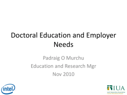 Padraig O`Murchu - Fourth Level Ireland
