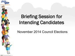 Electoral Commission of SA Candidates Briefing 2014