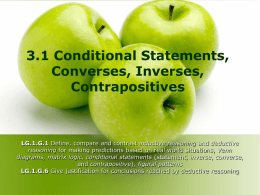 3.1 Conditional Statements LESSON