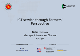 ICT service through farmers` perspective (Nafia - E