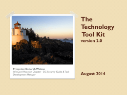 Technology Tool Kit Presentation