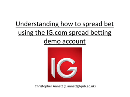 Spread Betting on IG