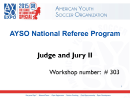 PowerPoint - AYSO Expo 2015